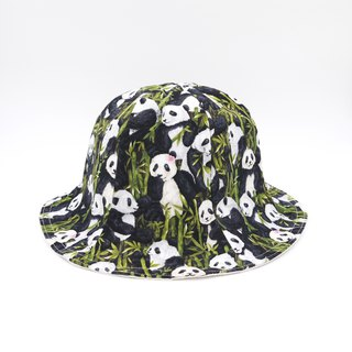 /Handmade flower hat/ A piece of panda reversible hat