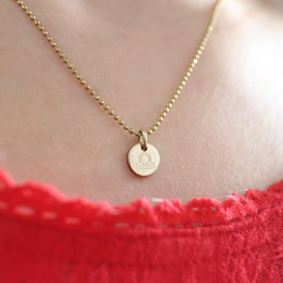 Horoscope sign-brass necklace-Libra