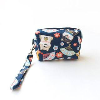 And fan Shiba Inu double cosmetic bag / coin purse storage bag