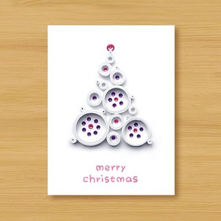 Handmade Roll Paper Christmas Card _ Blessings from afar ‧ Dream Bubble Christmas Tree _B