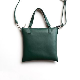 Joker Minimalist Toast Party Bag Portable Shoulder Dual Dark Green / Dark Green