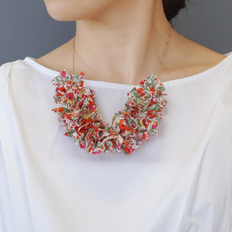 【14KGF】 Liberty frills necklace 【Claire · オ ー ド】