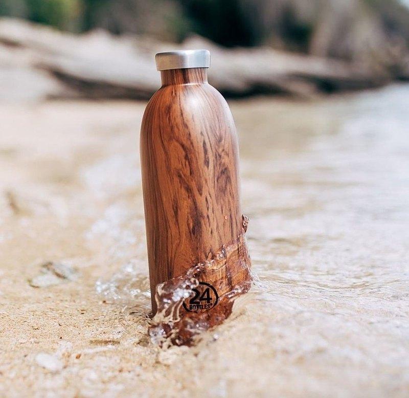 意大利24Bottles【CLIMA冷熱保溫系列】紅杉木紋 - 不鏽鋼瓶