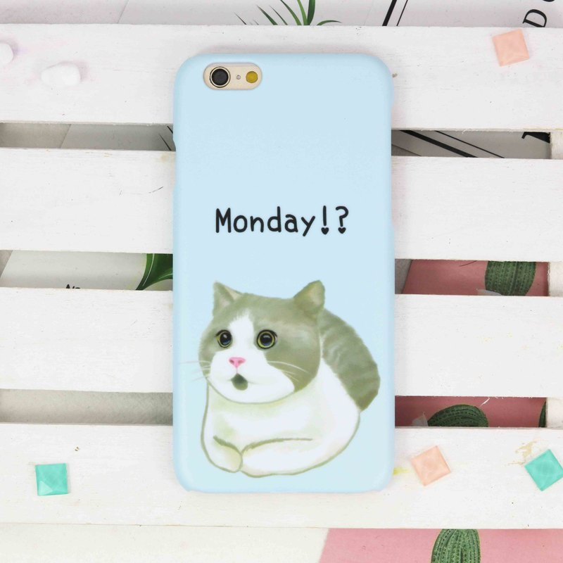 Monday Cat Bristish Shorthair phone case  iPhone X 8 8 plus  7 7plus 6 6plus 6+