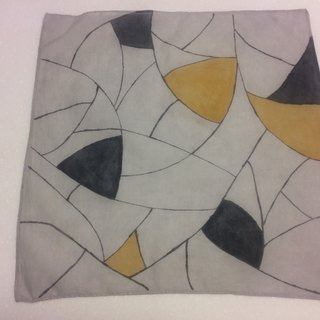 Mineral dyed hand-painted cotton handkerchief style lines (color blocks / lines)