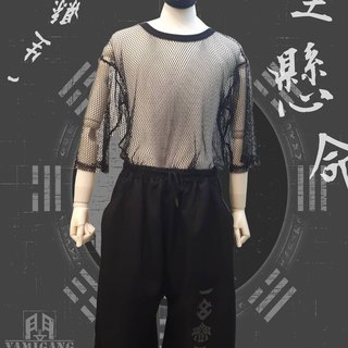 Exclusive limited BF simple wind level seven wide pants