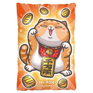 One god cat rice incense series pillow [Mixiang lucky] gold