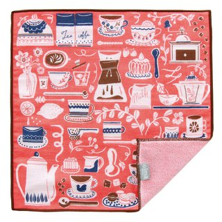 【IMA】WAFUKA Japan made Absorben, Soft, Cute & Unique Handkerchief- Cafeteria