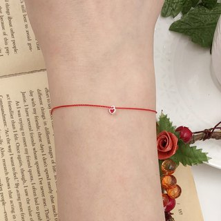 925 sterling silver love lock ultra small mini popular hot red line bracelet line hand rope exquisite