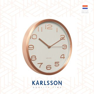 Karlsson, Wall clock 29cm Maxie copper numbers white