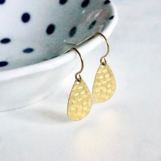 ITS-205 [earring series, brass water drop embossed sheet] exquisite brass A ear hook B ear clip