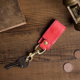 Multifunctional Leather Key Chain Stand - Coral Red - Reel, Stand -