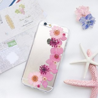 粉菊花系 • Handpressed Flower Phone Case