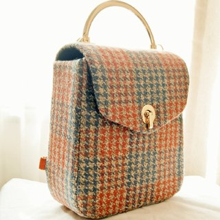 New autumn and winter series gross plaid portable backpack