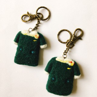 Stewardess uniform shape wool felt keychain
