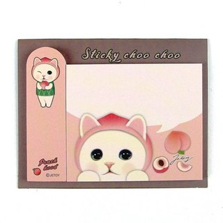 JETOY, sweet cat self adhesive sticky note _Peach hood J1711303