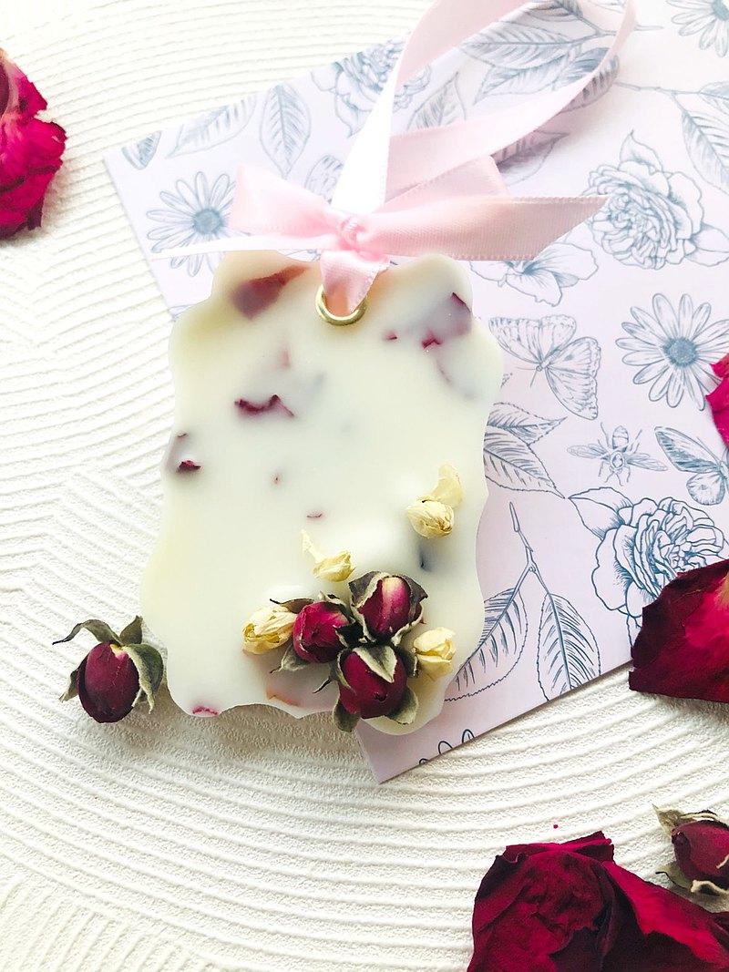 超香 茶花玫瑰香氛蠟片 凝香擴香|交換禮物|婚禮小物|乾燥花|香磚