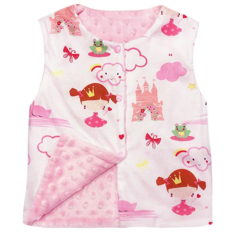 Minky點點 印花雙面背心 正反兩面穿 粉色小公主