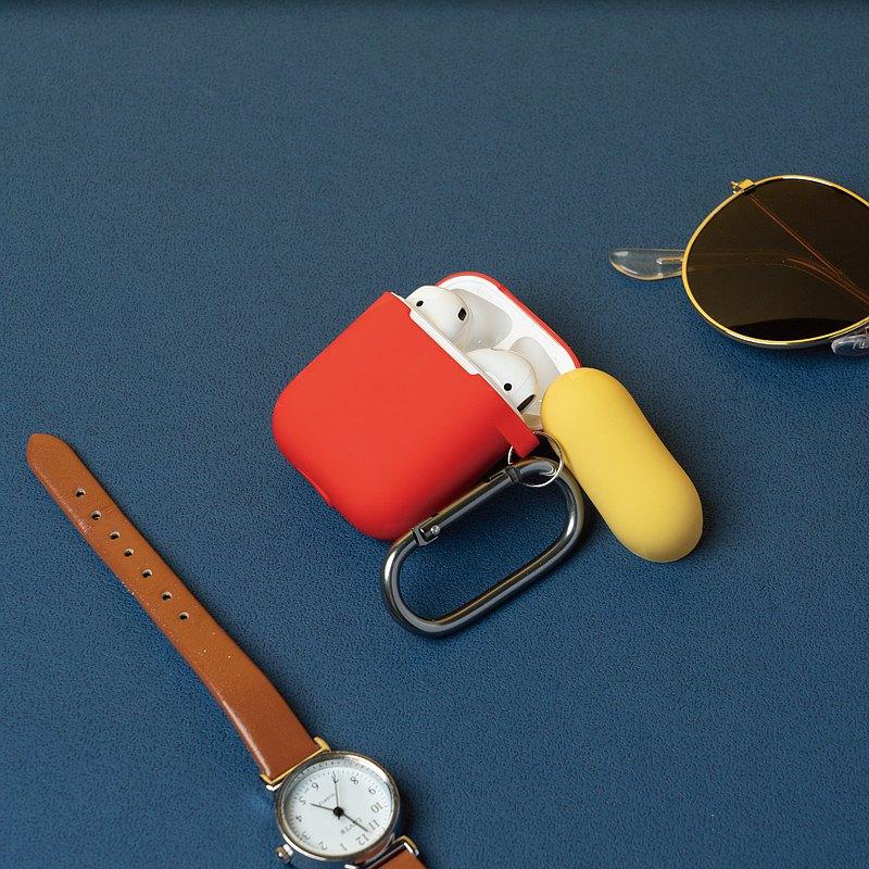 【春季出清】AirPods 1&2代 撞色掛鉤矽膠保護套