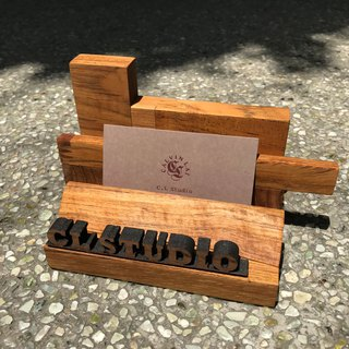 CL Studio [Modern Simple - Geometric Style Wooden Phone Stand / Business Card Holder] N100