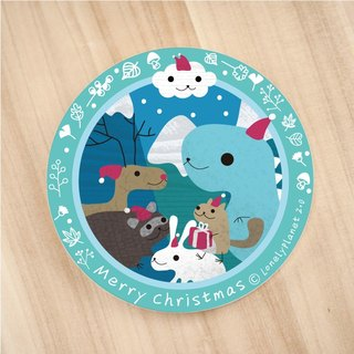 [Lonely Planet 2.0] ceramic water coaster - Christmas Animals @ + individually wrapped Christmas labels