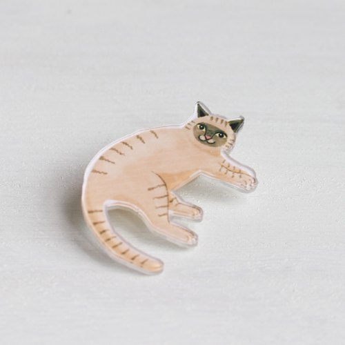 Siamese Cat small badge / pin I Cat Lover