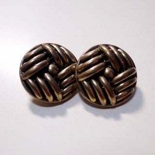 Retro knot bronze pin earrings