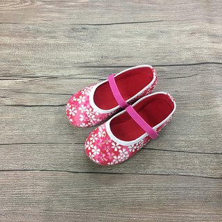 Baby shoes cherry pink