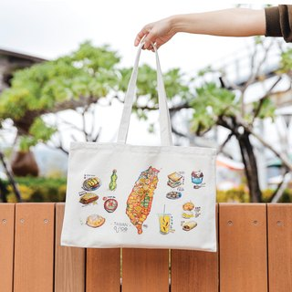Canvas Tote Bag - Taiwan Food Map