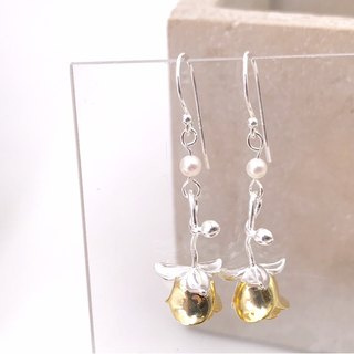 Golden Rose Silver 925 & Fresh Water Pearl Earrings