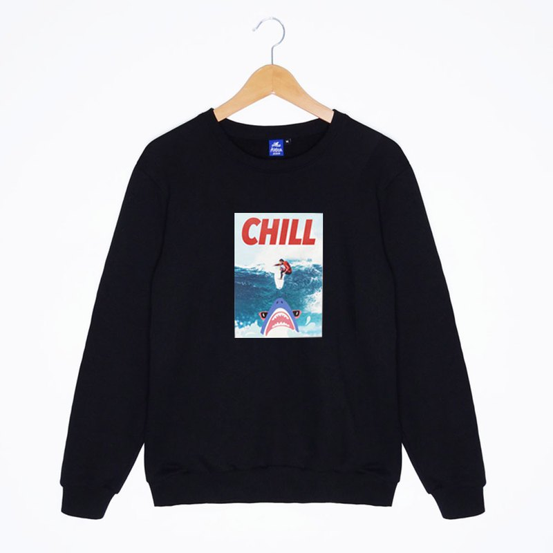 Chill Shark  Sweatshirts-Black