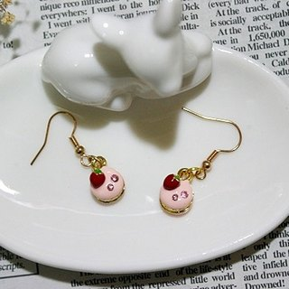 Alloy + diamond drops of enamel dessert time * _ * Hook Earrings