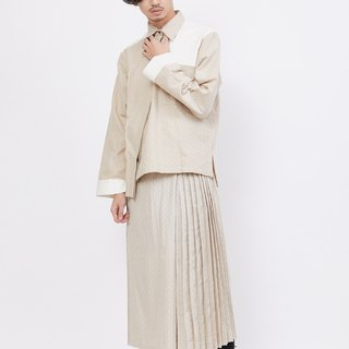 Pleated Pants Skirt_Vanilla Shake_Fair Trade