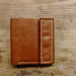 Hand sewing leather short clip