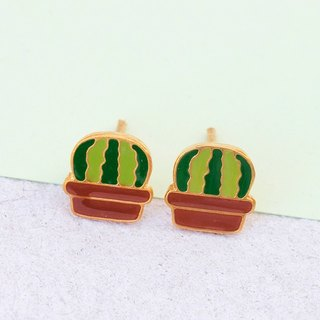Cactus Earrings in 925 Sterling Silver needle