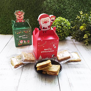 [Christmas small ceremony] [milk sugar small things] six hand-made milk sugar + two pieces of milk sugar cookies + Christmas box 1