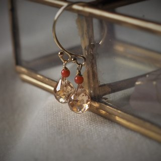 Earrings - Crystal - Champagne