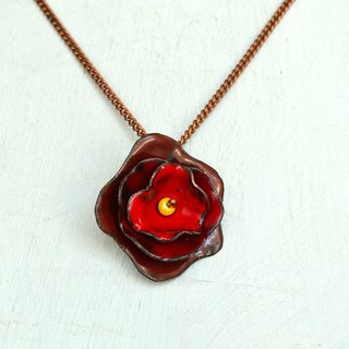Rose, Jewelry, Necklace, Enamel, Flower, Rose Necklace, Rose Jewelry, Flower