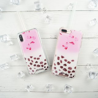 [Rose Petal Pearl Latte] Anti-gravity cushion Crash Case