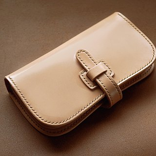 Natural leather wallet (Reverse mountain type)