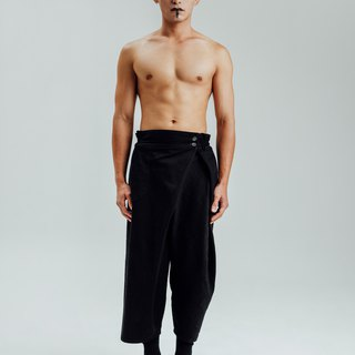 Alan Hu 2017 A / W Shirring wide pants