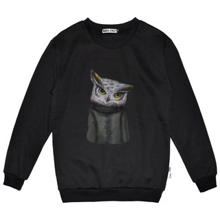 British Fashion Brand -Baker Street- Owl Printed Sweater