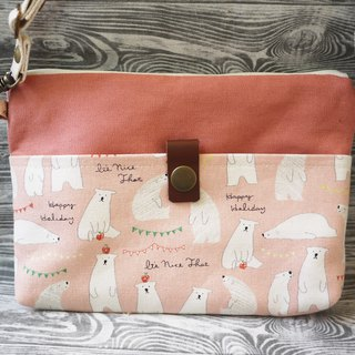Polar bear crossbody bag (powder)