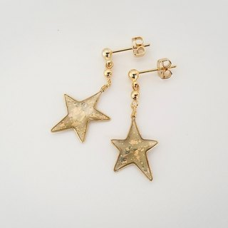 gold twinkle little star pierced or clip-on earrings