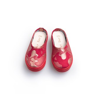 """Baby Day"" MIT pearl camouflage moccasin ""KID paragraph"" red gold shoes paternity shoes"