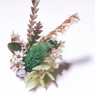 Her Bouquet little time | dried flower ring crystal rabbit tail grass grass small silver fruit