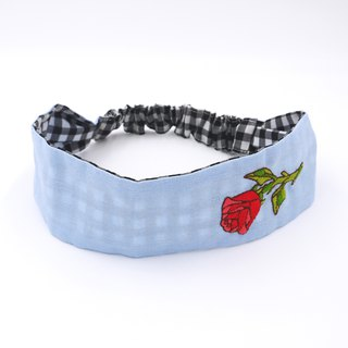 /Handmade embroidery headband/ Rose
