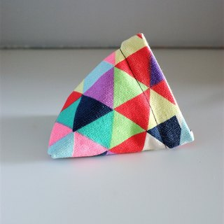 Triangle Snap Pouch (Colorful Triangles)