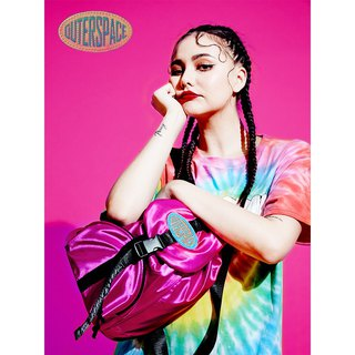 OUTER SPACE Retro!! Sparkling Backpack (Retro Pink)