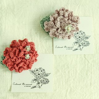 Goody Bag Red+Pink Hydrangea Brooches Lucky Bag Twine Weave Silver Butterfly Small Silver Flower